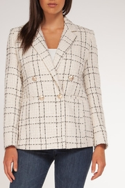 Black Tape Ivory/black Button Blazer - Product Mini Image
