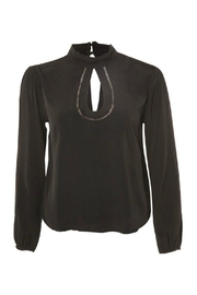 Black Tape Key Hole Blouse - Product Mini Image