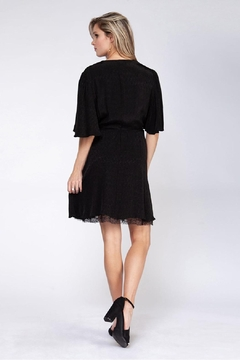 Black Tape Lace Dot Dress - Alternate List Image