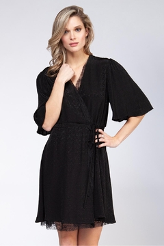 Black Tape Lace Dot Dress - Product List Image