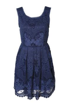 Black Tape Lace Flare Dress - Alternate List Image