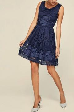 Black Tape Lace Flare Dress - Product List Image