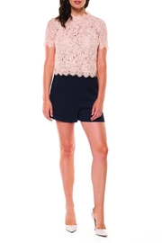 Black Tape Lace Mock-Neck Top - Front cropped