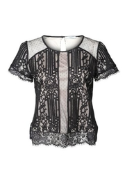 Black Tape Lace Overlay Top - Product Mini Image