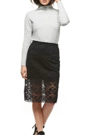 Black Tape Midi Lace Skirt - Front cropped