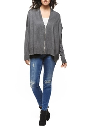 Black Tape Grey Oversized Zip Cardigan - Product Mini Image