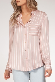 Black Tape Pink Striped Blouse - Product Mini Image