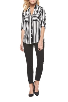 Black Tape Striped Pocket Blouse - Product List Image