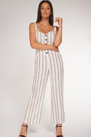 Black Tape Striped Jumper - Front cropped