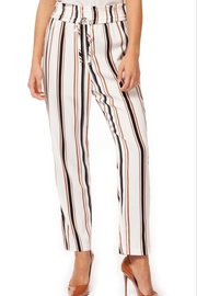 Black Tape Striped Cigarette Pant - Product Mini Image