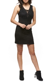 Black Tape Suede Lace-Up Dress - Product Mini Image