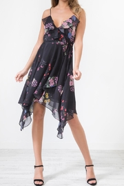 Urban Touch Blackfloral Frillwrap Diphemdress - Product Mini Image