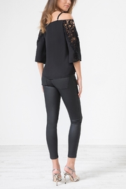 Urban Touch Blacklacedetail Coldshoulder Top - Product Mini Image
