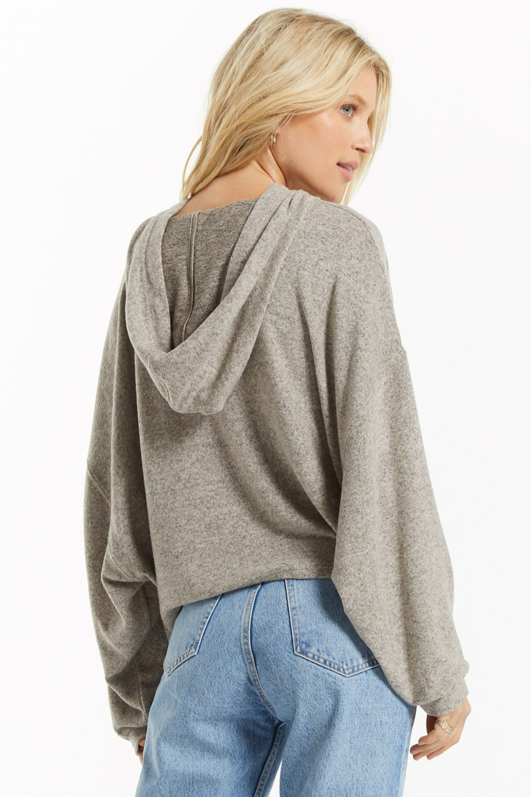 z supply Blaine Cozy Marled Hoodie - Side Cropped Image