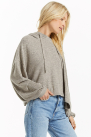 z supply Blaine Cozy Marled Hoodie - Front full body