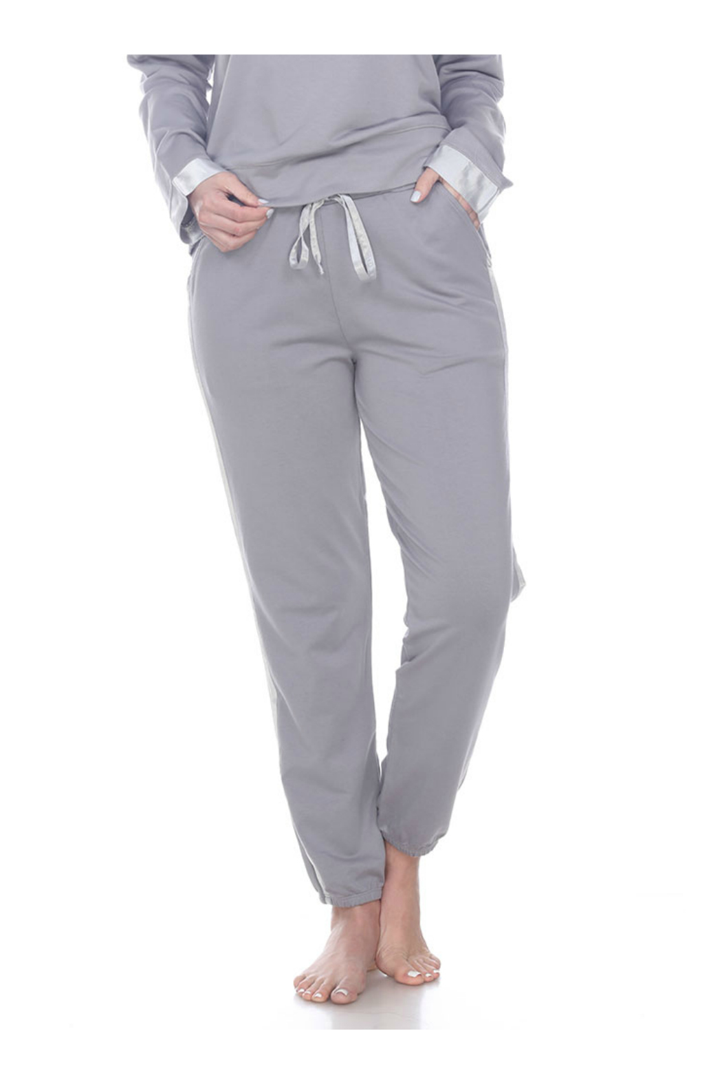 PJHARLOW BLAIR FRENCH TERRY SWEAT PANT WITH SATIN TRIM - Main Image