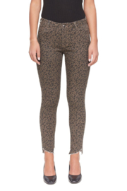 Lola Jeans Blair Leopard Mid-Rise Skinny Jean - Front cropped