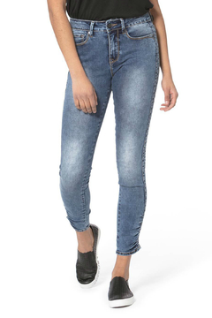 LOLA Blair Ruched Ankle Skinny Jeans - Product List Image