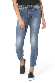 LOLA Blair Ruched Ankle Skinny Jeans - Product Mini Image