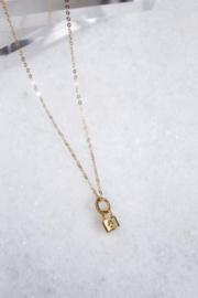 Kinsey Designs Blaire Lock Necklace - Front full body