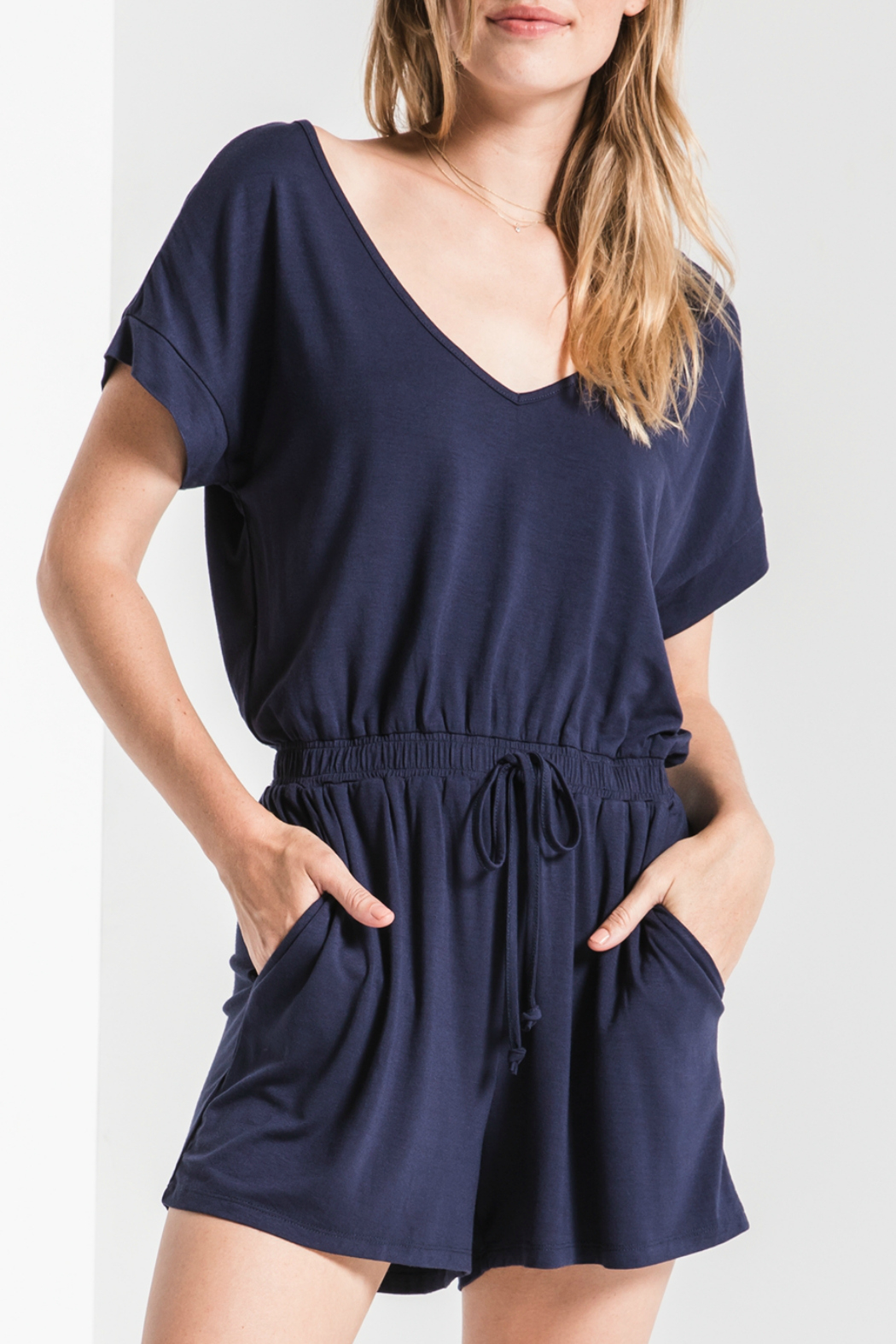z supply Blaire Sleek Jersey Romper - Main Image
