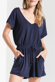 z supply Blaire Sleek Jersey Romper - Product Mini Image
