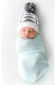 The Blueberry Hill Blake Gray Triangle Knit Hat - Alternate List Image