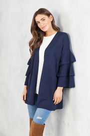 Mud Pie Blake Ruffle Cardigan - Front cropped