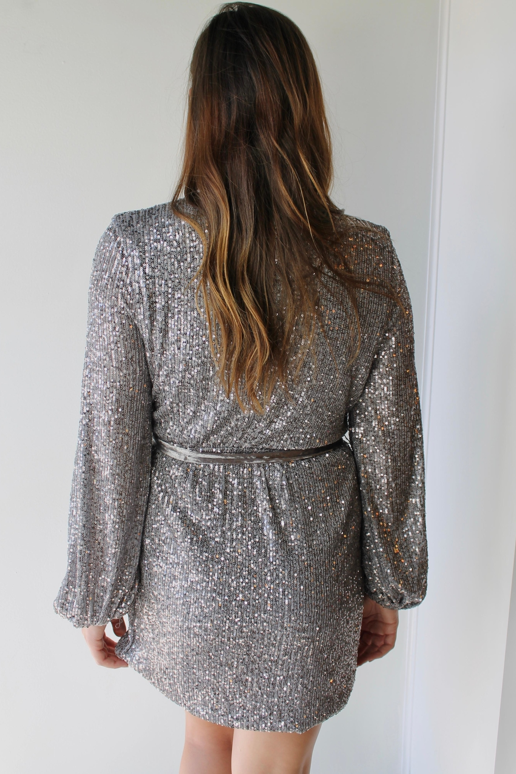 BLANC Champagne Dreams Dress - Front Full Image