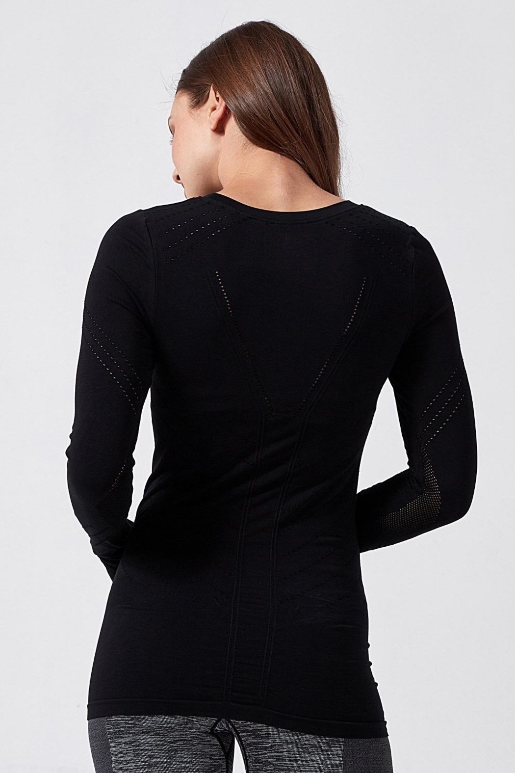 Blanc Noir Magnetic Long Sleeve Top - Front Full Image