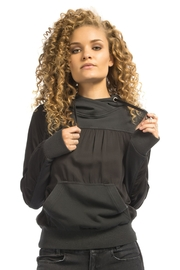 Blanc Noir Ruched Hoodie - Product Mini Image
