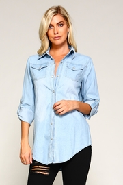 Racine Blanca Light-Denim Shirt - Product Mini Image