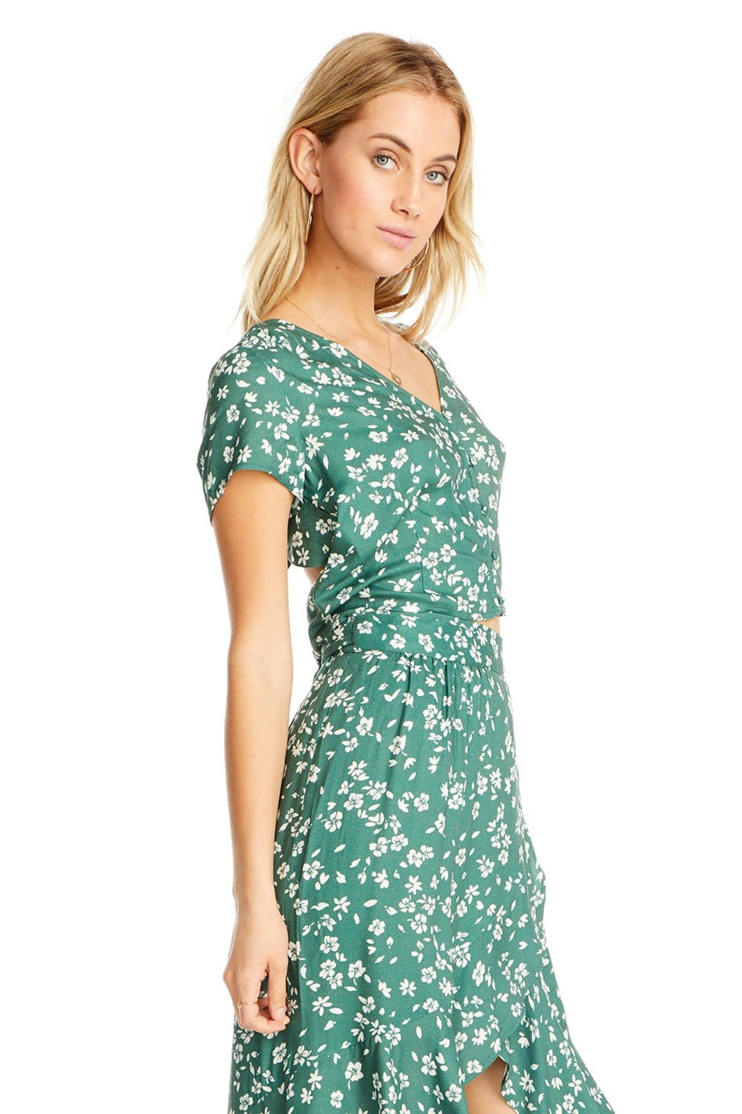 Saltwater Luxe Blane Floral Top - Side Cropped Image