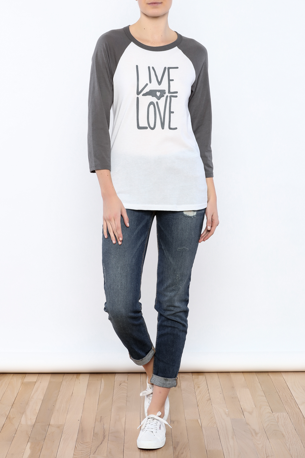 Blank Bella + Canvas Live Love NC Tee - Front Full Image