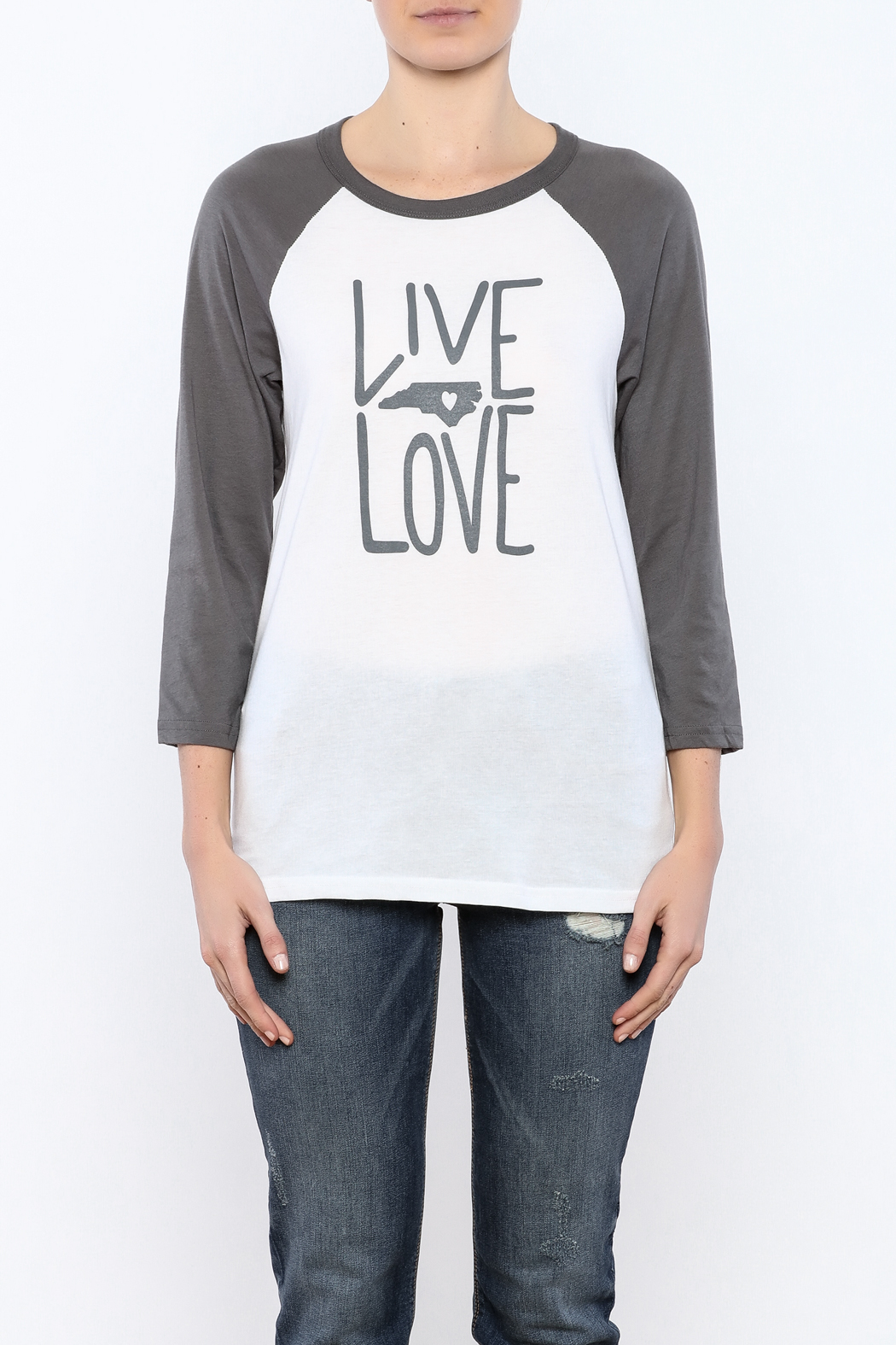 Blank Bella + Canvas Live Love NC Tee - Side Cropped Image