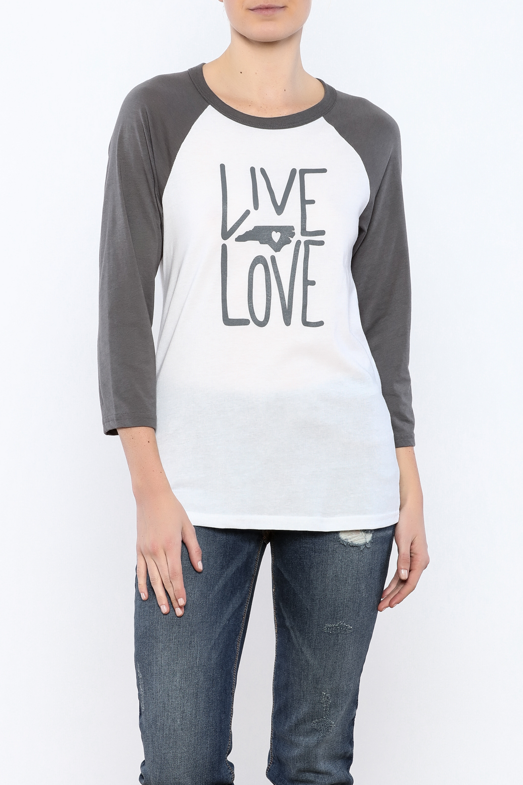 Blank Bella + Canvas Live Love NC Tee - Front Cropped Image