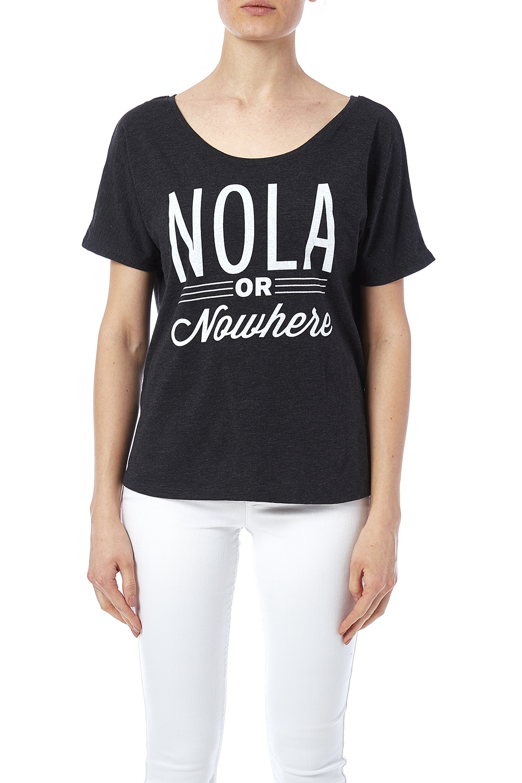 Blank Bella + Canvas Nola Or Nowhere Tee - Side Cropped Image