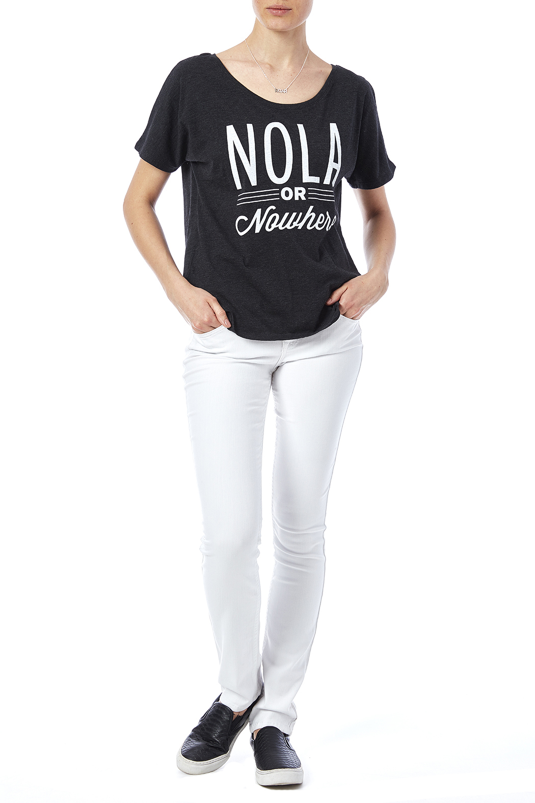 Blank Bella + Canvas Nola Or Nowhere Tee - Front Full Image