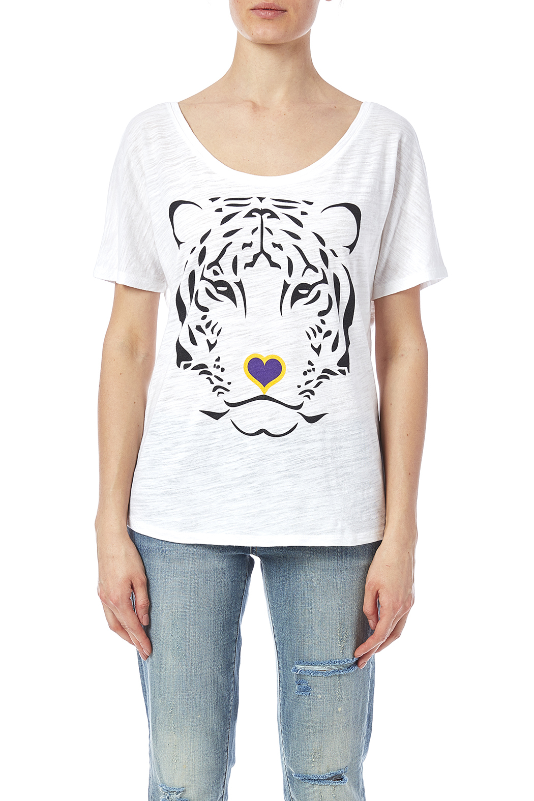 Blank Bella + Canvas Tiger Love Tee - Side Cropped Image