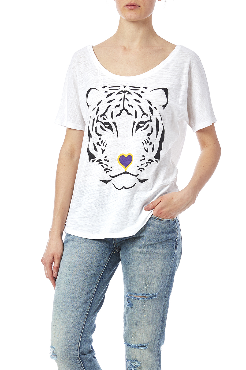 Blank Bella + Canvas Tiger Love Tee - Main Image