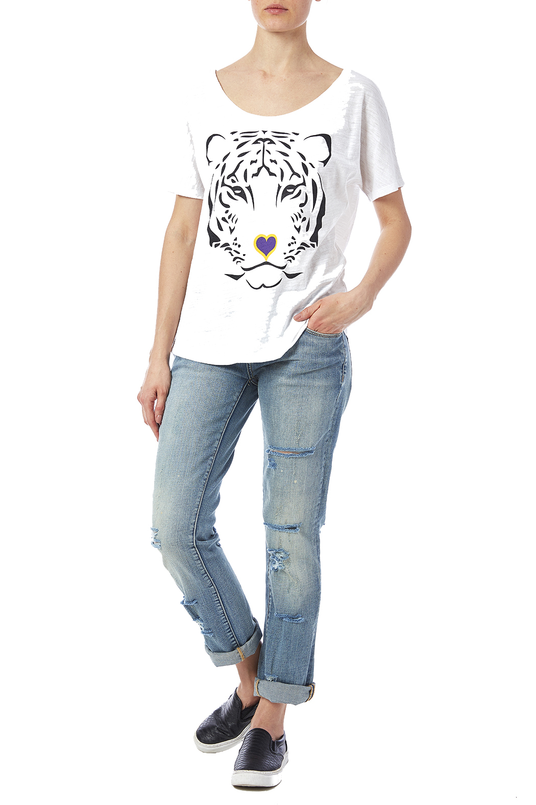 Blank Bella + Canvas Tiger Love Tee - Front Full Image