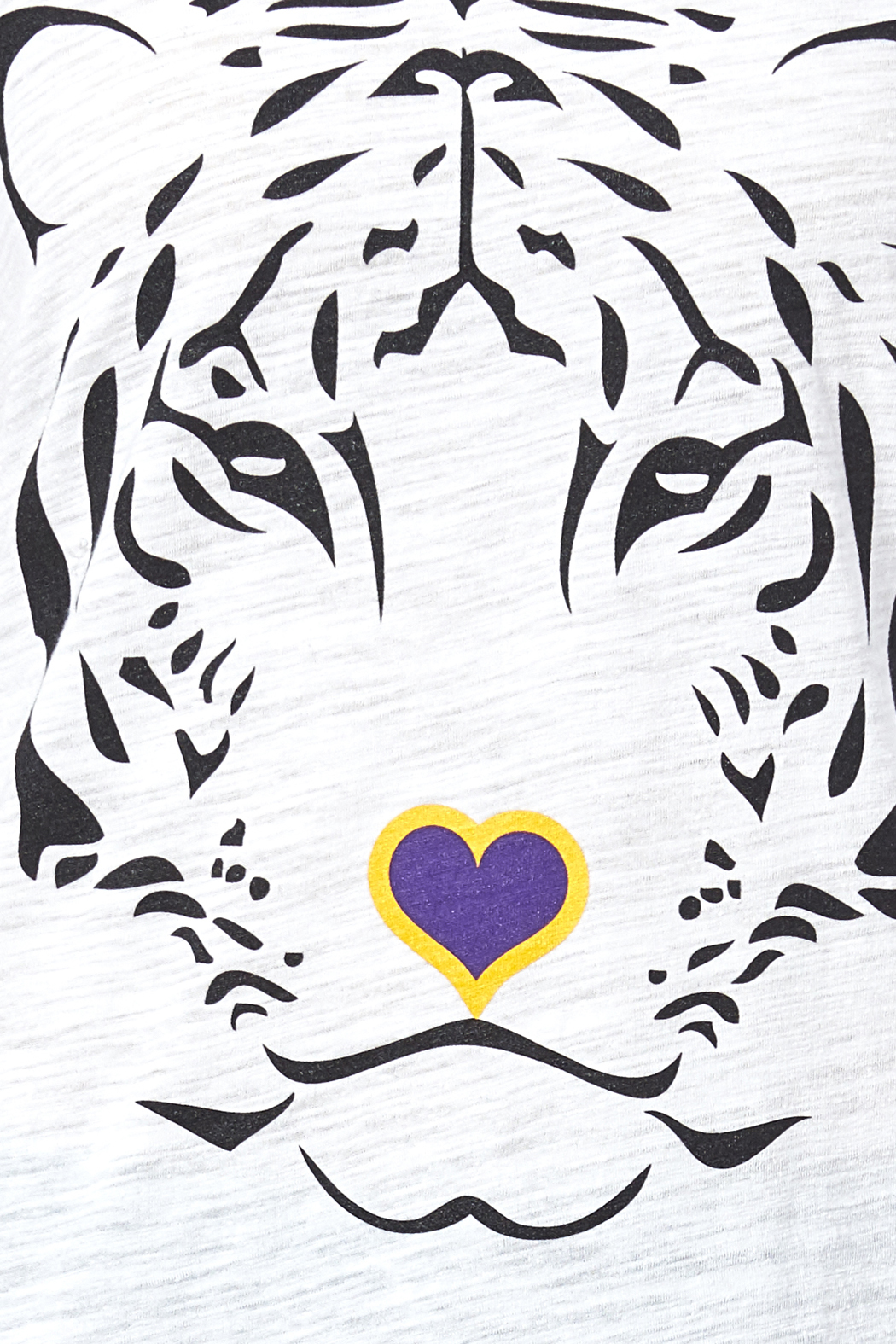 blank bella   canvas tiger love tee from new orleans by sarah ott  u2014 shoptiques