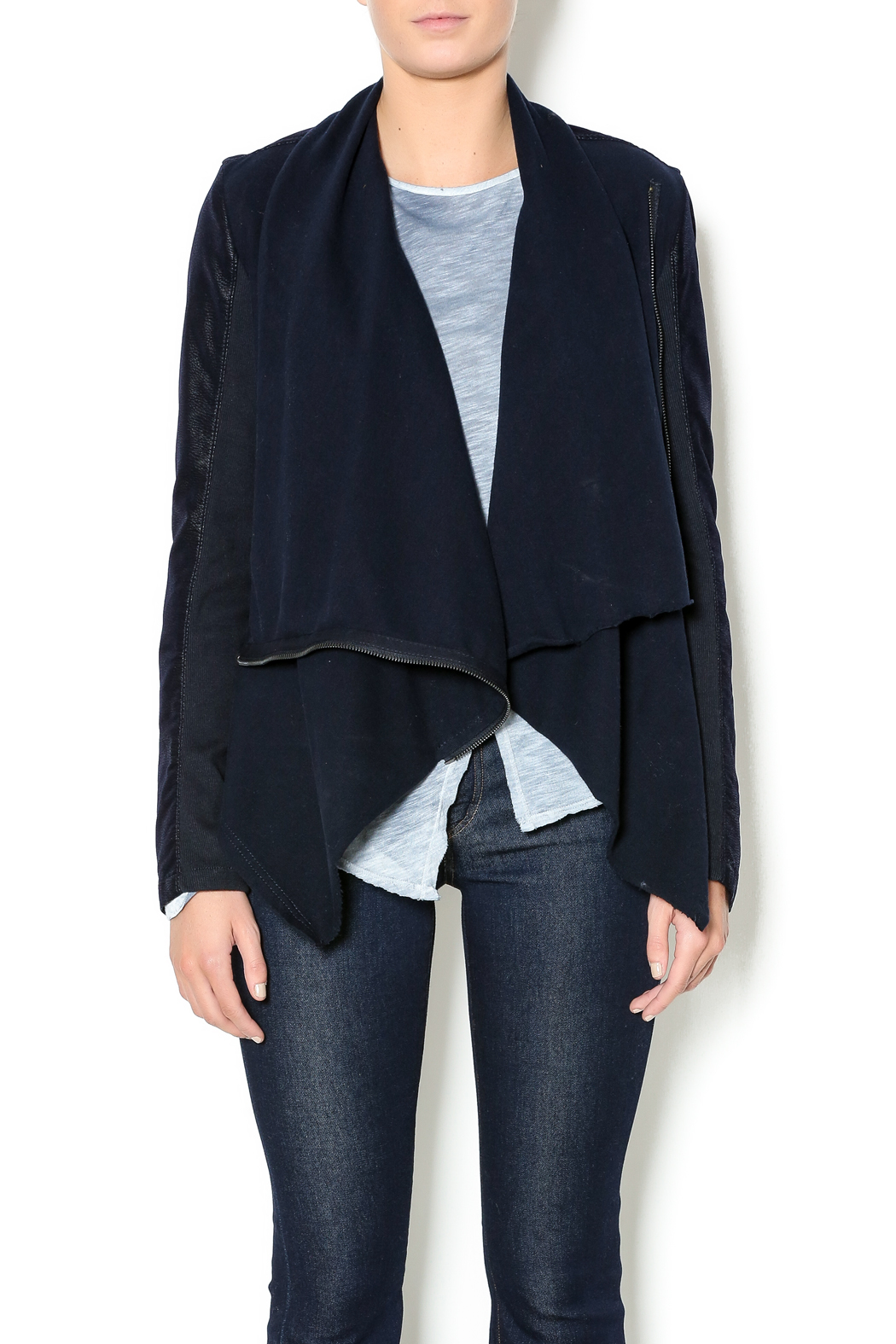 Blank Nyc Drape Front Jacket From New York City By Olive