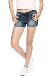 Blank Paint Splatter Cutoff Shorts - Front cropped
