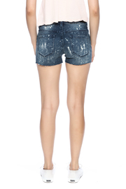 Blank Paint Splatter Cutoff Shorts - Back cropped
