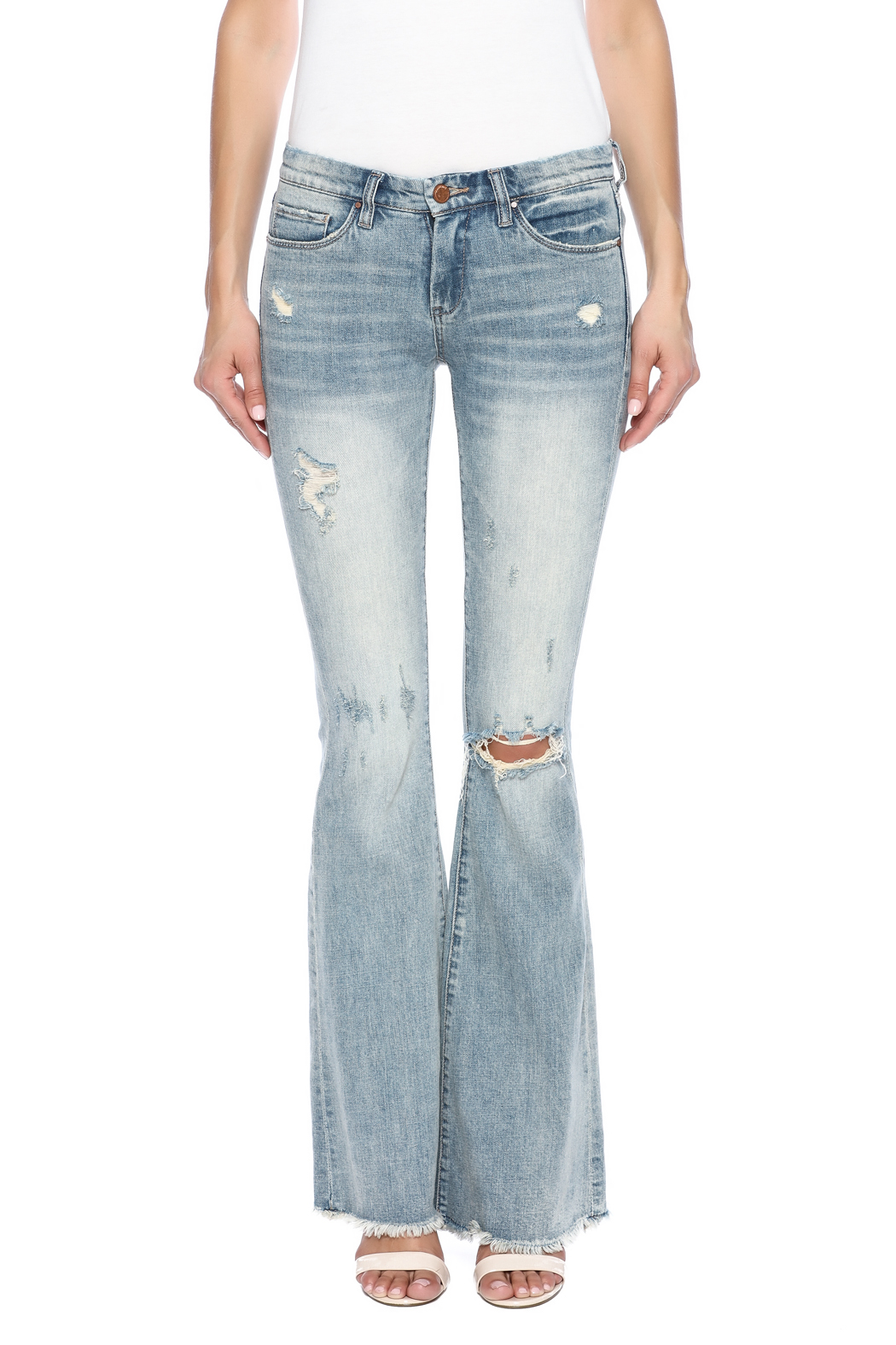 online sale hot sale online top-rated latest Blank Ripped Bell Bottom Jean from Long Island by Max ...