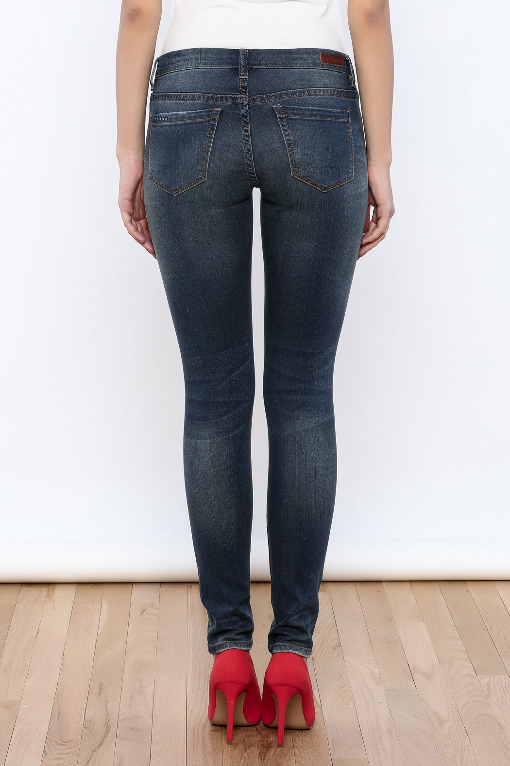 Blank Ripped Skinny Jeans - Back Cropped Image