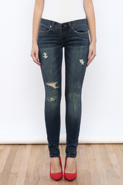 Blank Ripped Skinny Jeans - Side cropped