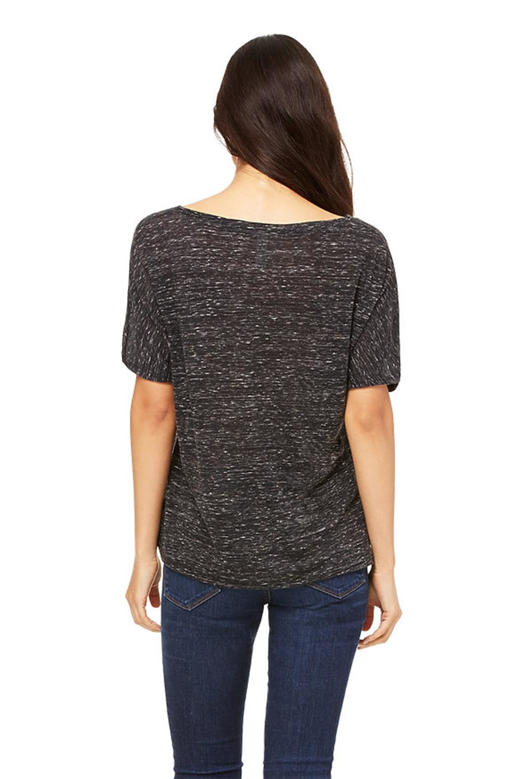Blank Bella + Canvas Black Marble Tee - Front Full Image