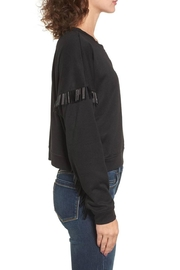 Blank NYC Beaded Fringe Crop Top - Back cropped